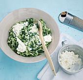 Spinach and feta risotto