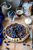 Blueberry chocolate pie