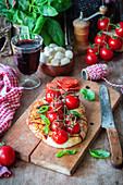 Cherry tomato foccacia