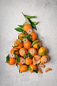 Clementine christmas tree