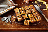 Marmorierte Pumpkin Pie Brownies