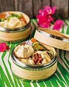 Barbecue pork buns with pickled slaw (Asia)