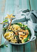 Hähnchen-Piccata mit Salbeibutter-Spaghetti