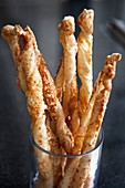 Cheese sticks in a glass