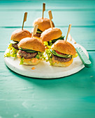 Asian sliders with pickled cucumber