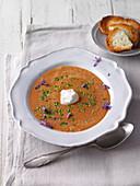 Black tomato soup