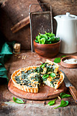 Spinach cheese pie with nuts