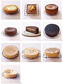 Verschiedene misslungene Kuchen