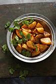 Batata Hara (Syrian potatoes with chillis)