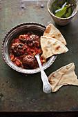 Dawod Basha (fried meatballs in a tomato sauce, Syria)