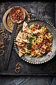 Harra Esbao (Syrian lentils with pasta)