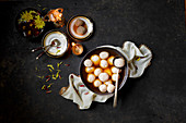 Indian sweets on a black background