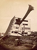 Schultz House after Johnstown Flood, 1889