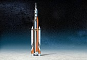 Ares IV rocket, illustration