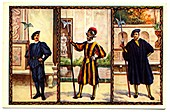 Early 20th Century Vatican City Swiss guards