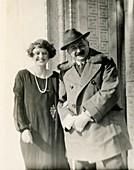 Austrian chemist Alfons Klemenc and colleague, 1927