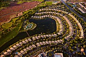 Housing estate, Huelva, Spain, aerial photograph