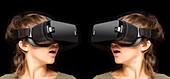 Twinned virtual reality headsets
