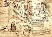 Leonardo Da Vinci's water lifting devices
