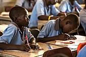 Schoolboys in a classroom