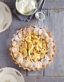 Apple tart made with almond pastry