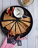 Fruity advent cake with poppyseeds and figs
