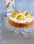 Pina Colada cake with caramelised pineapple