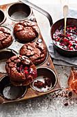 Rote-Grütze-Muffins vom Grill