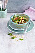 Tomato, almond and mint tabbouleh