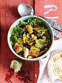 Sweetcorn salad with peppers and a lime dressing (Mexico)