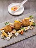 Vegetarian falafel with Zatar mayonnaise