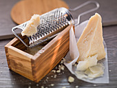 Parmesan with a cheese grater