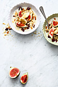 Vegan fig muesli with silken tofu