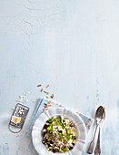 Fennel and leek risotto with kidney beans and Parmesan