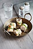 Crepe rolls with vitello tonnato