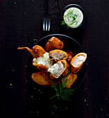 Fish fingers with a dill remoulade