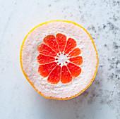 Pink grapefruit, sliced