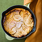 Apple Oven Cake in a skillet