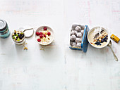 Four simple variations on muesli – oats, porridge, energy balls and a bowl