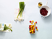 Ingredients for quick vegetable dishes