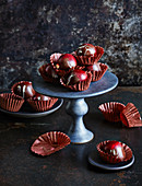 Red wine sloe chocolates
