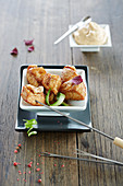 Teriyaki chicken fondue