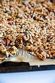 Tray bake granola
