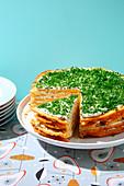 Pikante Käseschichttorte (Modetorte aus den 50er Jahren)