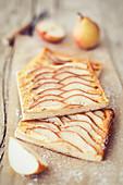 Tray-baked pear cake