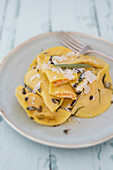 Ravioli with pumpkin and goat's cheese