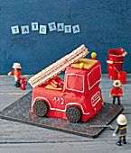 A fire engine birthday cake