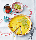 Lime tart with sour cream