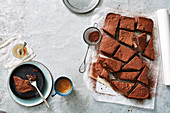 Brownies mit Schokoriegel