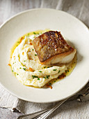 Cod on mashed Hamburg parsley